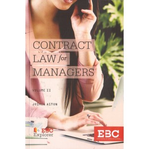 EBC's Contract Law for Managers Vol. II by Joshua Aston | Eastern Book Company