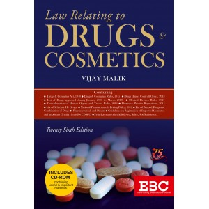 Eastern Book Company's Law Relating to Drugs & Cosmetics [HB] by Vijay Malik