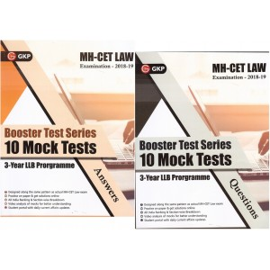 GKP's MH-CET Law Examination 2018-19 Booster Test Series 10 Mock Tests for 3 Year LLB Programme (Questions & Answers)