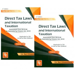 GPC Publication's The RCC for CA Final Direct Tax Laws and International Taxation May / Nov 2019 Exam by CA. Ravi Chhawchharia [2 Vols. For Old & New Syllabus]