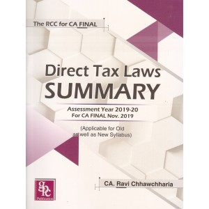 GPC Publication's The RCC for CA Final Direct Tax Laws Summary November 2019 Exam [Old & New Syllabus] by CA. Ravi Chhawchharia