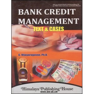 Himalaya's Bank Credit Management Text & Cases by G. Vijayaragavan | PCG 210
