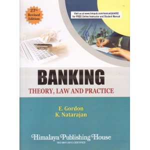 Himalaya Publishing House's Banking Theory, Law and Practice by E. Gordon, K. Natarajan