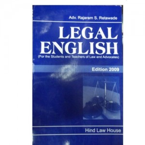 Hind Law House's Legal English for BSL | LL.B by Adv. Rajaram S Retawade