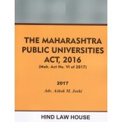 Hind Law House's The Maharashtra Public Universities Act, 2016 by Adv. Ashok M. Joshi