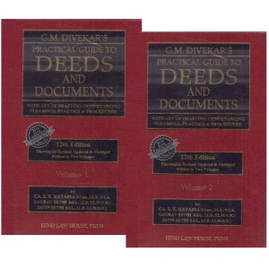 G. M. Divekar's Practical Guide to Deeds & Documents with CD [2 HB Vols.] by Hind Law House