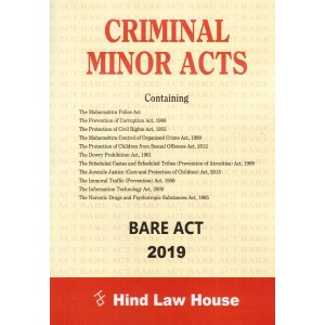 Hind Law House's Criminal Minor Acts Bare Act