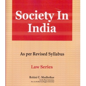 Hind Law House's Society in India for BA. LL.B [New Syllabus] by Rohini C. Mudholkar