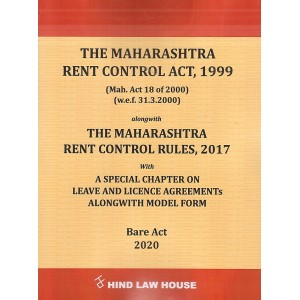 Hind Law House's The Maharashtra Rent Control Act, 1999 & Rules, 2017 Bare Act