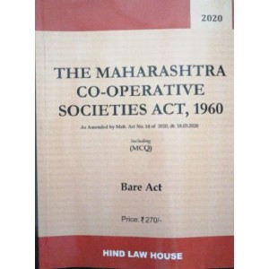 Hind Law House's The Maharashtra Co-operative Societies Act, 1960 Bare Act