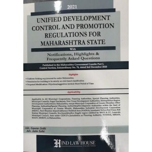 Hind Law House's Unified Development Control and Promotion Regulation for Maharashtra State by Adv. Gaurav Sethi, Adv. Jatin Sethi