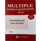 Hind Law House's Multiple Choice Questions [MCQ] on Constitutional Law of India [Edn. 2020-21]