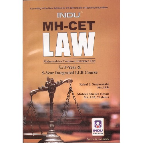 Indu's MH-CET Law  2017 - Maharashtra Common Entrance Test for 3 & 5 Years LL.B Course by Rahul J. Surywanshi, M. S. Ismail