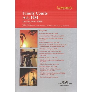Lawmann's Family Courts Act, 1984 by Kamal Publishers
