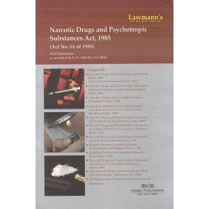 Lawmann's Narcotic Drugs & Psychotropic Substances Act 1985 by Kamal Publisher