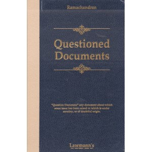 Lawmann's Questioned Documents [HB] by R. Ramachandran | Kamal Publishers