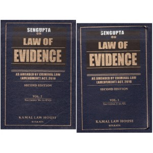 Kamal Law House's Law of Evidence by S. P. Sengupta [2 HB Volumes]