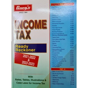 Garg's Income Tax Ready Reckoner 2021-22 By LMH Publications Pvt. Ltd. | IT Ready Reckoner for A. Y. 2022-23