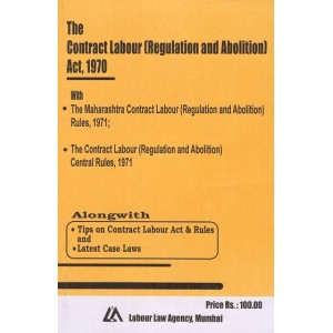 Labour Law Agency's Contract Labour (Regulation and Abolition) Act, 1970 | S. L. Dwivedi | Bare Act