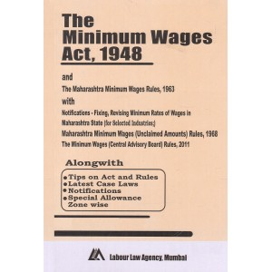 The Minimum Wages Act, 1948 Bare Act by Labour Law Agency