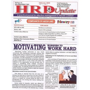 Labour Law Reporter's HRD Update: Compliances of Labour Laws Journal (Annual Subscription 2020) | LLR