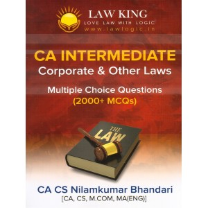 Law King's Corporate & Other Laws MCQs for CA Intermediate May 2019 Exam by CA CS Nilamkumar Bhandari | Expert Professional Academy Pvt. Ltd.