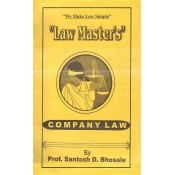 Law Master's Company Law for LL.B By Prof. Santosh D. Bhosale