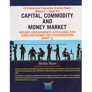Lawpoint's Capital, Commodity and Money Market Useful for CS Professional Module 3 Paper 9.2  June/December 2017 Exam by Mohit Shaw