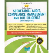 Lawpoint's Secretarial Audit, Compliance Management & Due Diligence for CS Professional Module 1, Paper 2, December 2018 Exam by S. K. Pandab