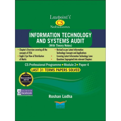 Lawpoint's Information Technology and Systems Audit [ITSA] for CS Professional Module 2, Paper 4 June 2019 Exam [Old Syllabus] By CA. Roshan Lodha