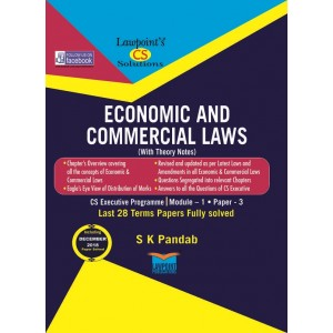 Lawpoint's Economic and Commercial Laws [ECL] for CS Executive Module I Paper 3 June 2019 Exam by S. K. Pandab