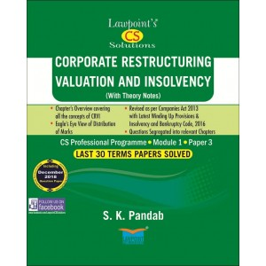 Lawpoint's Corporate Restructuring, Valuations & Insolvency for CS Professional Module 1, Paper 3 June 2019 Exam [Old Syllabus] by S. K. Pandab