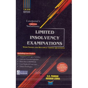 Lawpoint's Limited Insolvency Examinations with Notes and MCQs 2019 by S. K. Pandab & Roshan Lodha