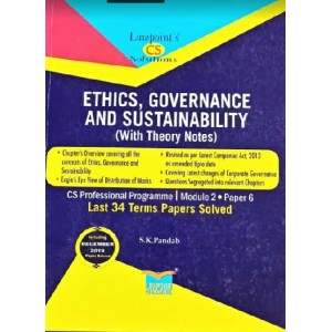 Lawpoint's Ethics, Governance and Sustainability for CS Professional Module 2, Paper 6 December 2020 Exam [Old Syllabus] by S. K. Pandab