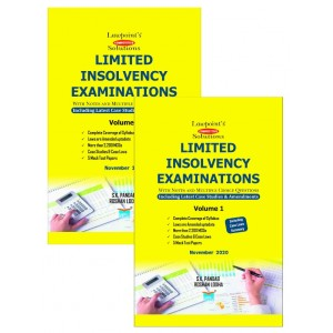 Lawpoint's Limited Insolvency Examinations with Notes and MCQs 2021 [2 Volumes] by S. K. Pandab & Roshan Lodha