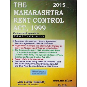 Law Times (Bombay)'s The Maharashtra Rent Control Act,1999 by Adv. Sameer Tendulkar