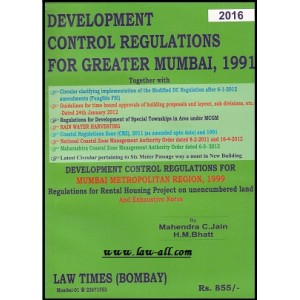 Law Time's Development Control Regulations For Greater Mumbai,1991 by Mahendra C. Jain