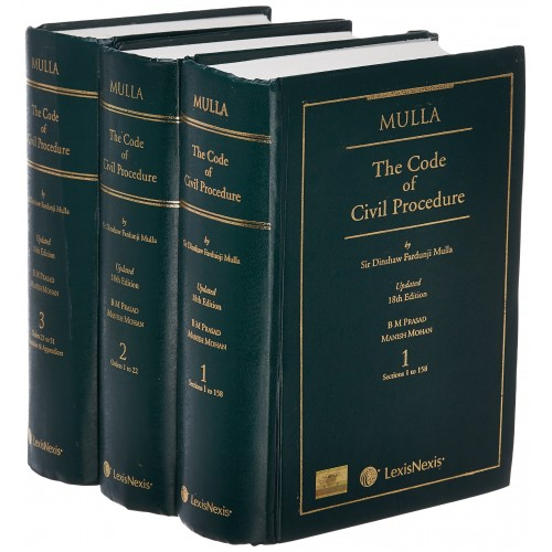 LexisNexis's The Code of Civil Procedure by Dinshaw Fardunji Mulla (Set of 3 Volumes)