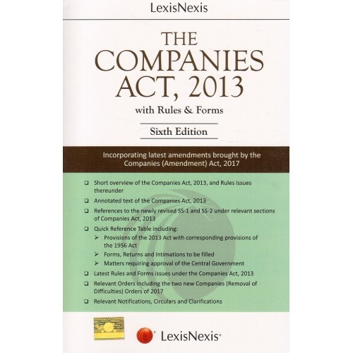 LexisNexis's Companies Act, 2013 with Rules & Forms