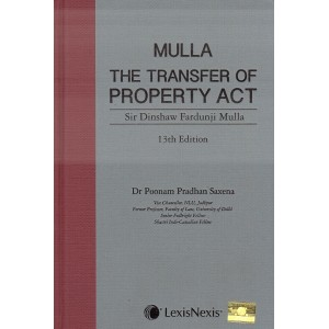 LexisNexis's The Transfer of Property (TP) Act, 1882 [HB] by Sir Dinshaw Fardunji Mulla