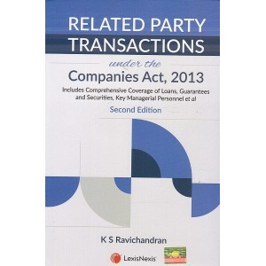 LexisNexis Related Party Transactions under the Companies Act, 2013 [HB] by K. S. Ravichandran