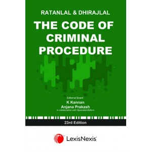 LexisNexis's The Code of Criminal Procedure (Cr.P.C) for BSL & LL.B by Ratanlal & Dhirajlal
