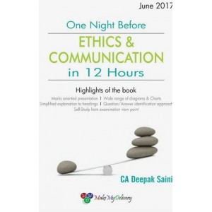 MMD's One Night Before Ethics & Communiation in 12 Hours for CA IPCC May/June 2017 Exam by CA. Deepak Saini