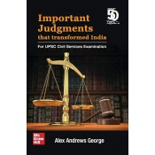 McGrawHill's Important Judgments that Transformed India for UPSC Civil Services Examinations by Alex Andrews George