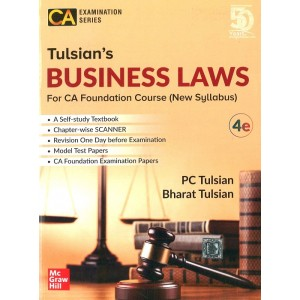 McGrawHill Education's Business Laws for CA Foundation May 2020 Exam by P. C. Tulsian, Bharat Tulsian