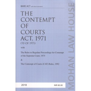 Mohan Law House's The Contempt of Courts Act, 1971 Bare Act