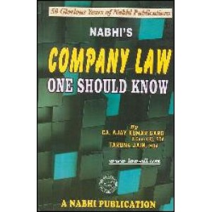 Nabhi's Company Law One Should Know by Ajay Kumar Garg