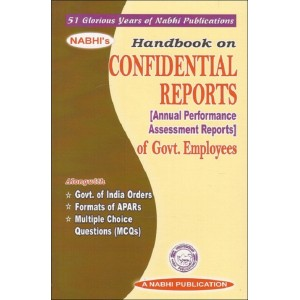 Nabhi Publication's Handbook on Confidential Reports [Annual Performance Assessment Reports] of Govt. Employees
