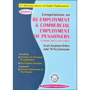Nabhi Publication's Compilation on Re-Employment & Commercial Employment of Pensioners (Civilians and Ex-Servicemen)