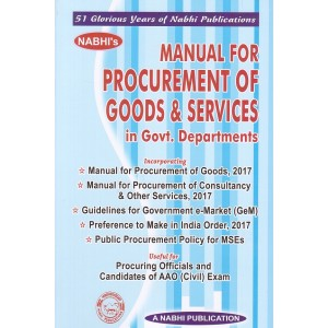 Nabhi's Manual for Procurement of Goods & Services in Government Departments Useful or AAO (Civil) Exam